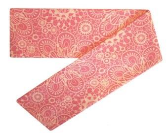 Pink Head Scarf, Pink Headscarf, Cute Head Scarves, Cute Headscarves, Cotton Scarf Headband, Scarf Head Band, Tie Back Headband, Tie On Wrap