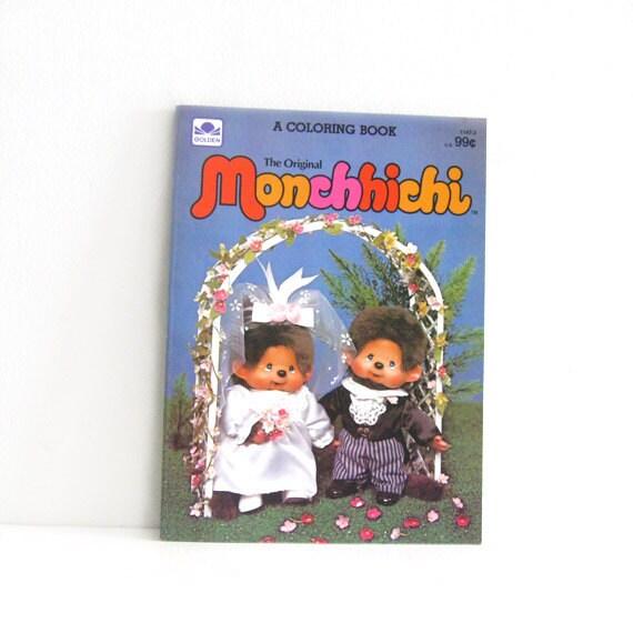 Vintage Monchhichi Coloring book Unused Rare Wedding Monkeys