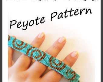 Small Swirls Peyote Pattern Bracelet - For Personal Use Only PDF Tutorial