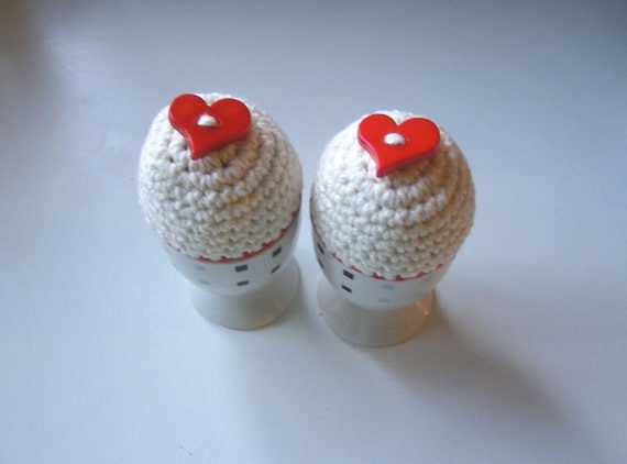 Valentines Day Egg Cosies - Handmade and ready to mail