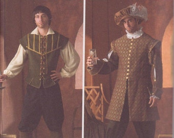 Simplicity 4059 Mens Renaissance Costume Sewing Pattern Size XS-S-M-L-XL New and Uncut
