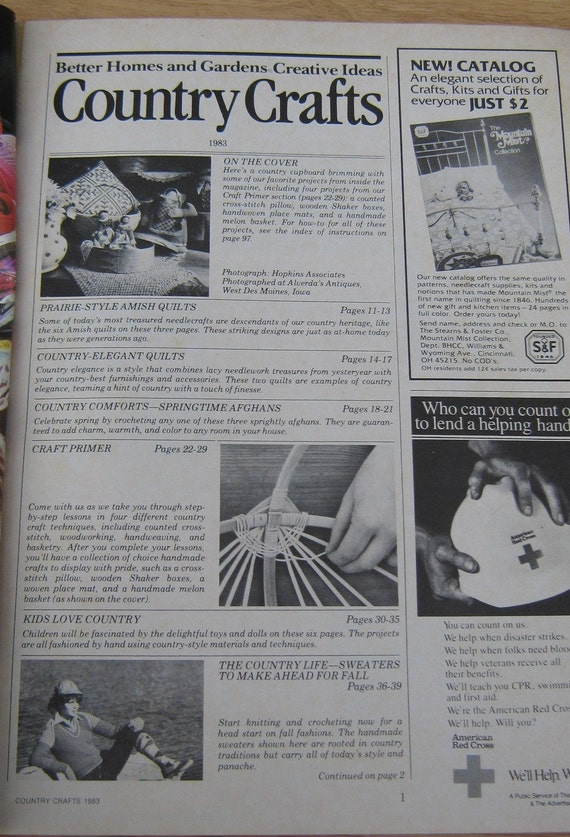 Vintage Country Crafts Better Home and Gardens Magazine