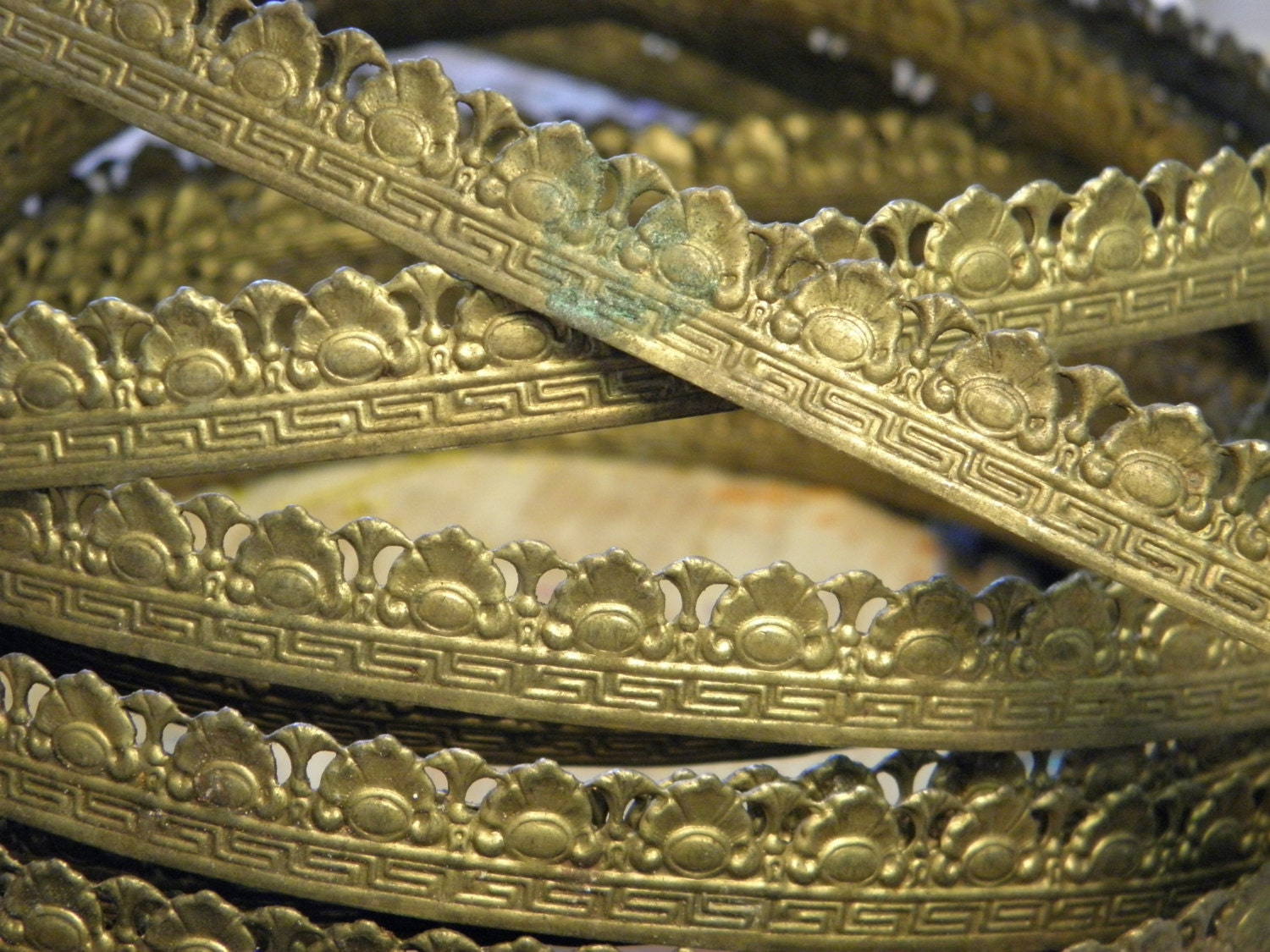 Vintage brass decorative metal trim supply