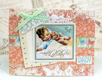 Baby Card Vintage Shabby