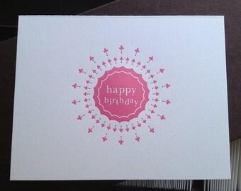 Birthday Burst Letterpress Card