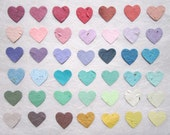 200 Plantable Wedding Favors Hearts - Seed Paper Hearts Confetti - Plantable Paper Hearts - Flower Seed Hearts
