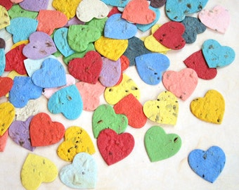 200 Herb Seed Hearts Plantable Seed Paper Confetti Hearts - Wedding Favors - Basil Dill Chives Parsley Thyme Oregano