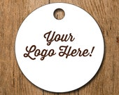 "DOUBLE SIDED Customized 2"" Logo Hang Tags Price Tags Product Display - favor - thank you"