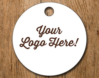 "Customized 2"" Logo Hang Tags Price Tags Product Display - favor - thank you"