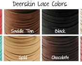 50 Feet 1/8 Inch Deerskin Leather Cord Lace String Assorted Colors YOU PICK