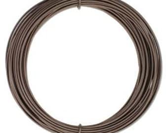 420233 Anodized Aluminum Craft Wire 12 Gauge 39 Feet  MATTE BROWN