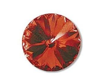 2 - 14mm Swarovski Elements Crystal Rivoli 1122 SF PADPARADSCHA Beads 59125