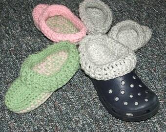 Crochet Pattern-Clog Liners, Jr.