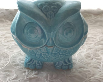 Owl Trinket Box Owl Home Decor in Aqua or your Favorite Color Ceramic Trendy Home Decor Owl Gift