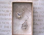 Wedding Earrings, Glam Tear Drop II, Bridal Earrings, Bridesmaids Gift, Swarovski Crystal Earrings, Modern Bride