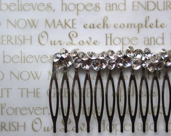Wedding Hair Comb, Bridal Hair Comb, Modern Glam Swarovski Crystal Hair Comb
