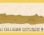 Bill Callahan hand-pulled screen printed concert poster