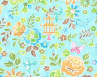 NEW, Chinoise by Studio K, Light Aqua Floral