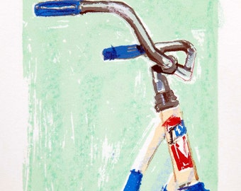 Bicycle Art Print - Rocket - Cruiser Bike art