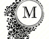 """Personalized Printable Initial """"M"""" Note Card."""