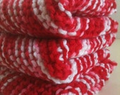 Hand Knit Dish Cloths Set of Three