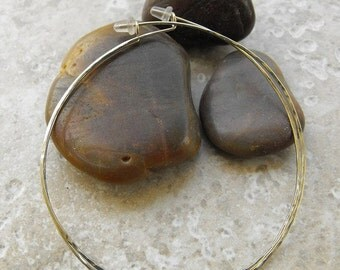 """Extra large silver or yellow or pink gold three inch hoop earrings 3"""" hoops"""