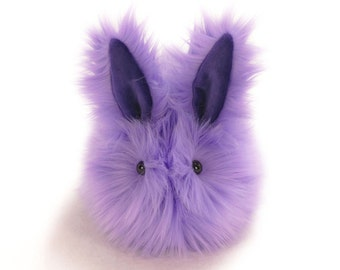 Pansy Bunny Stuffed Toy Faux Fur Plushie Rabbit - Medium Size