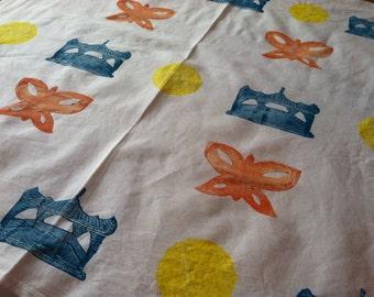 Chinoserie Flour Sack Tea Towel