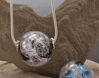 Small Focal Pendant -- Glass Memorial Bead