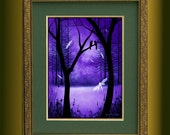 Fantasy Landscape Trees and Dragonflies Art Print -- This Is Ever After -- Limited Edition of 10 -- 12 x 16