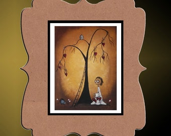 Whimsical Creeper Art Print  -- Art  Print Giclee - Tree of Hearts