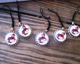 Girls Boys Kids Classroom Party CAROUSEL Cellphone Backpack Electronic Charms 6pk Favors