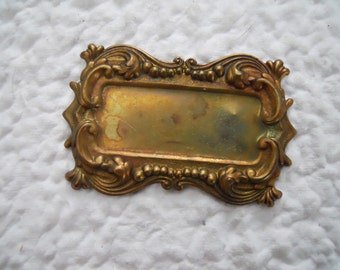Brass Frame Art Nouveau Stamping Ornate