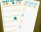 BABY SHOWER GAME cards Baby Gift Bingo Baby Food Guessing game Set of 10 each