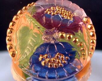Czech Glass Button - 27mm