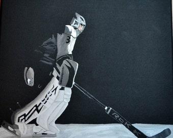 Jonathan Quick Los Angeles Kings Painting