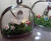 Meadow miniature terrarium fairy garden necklace