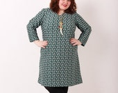 Crimson and Clover dress - Vintage Plus Size Dress - 18 20 2x