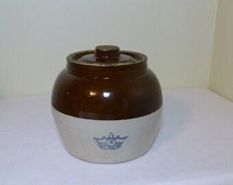 Bean Pot Blue Crown 2 Robinson Ransbottom Single Handle
