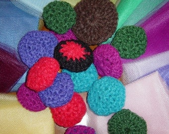 20 Dish Scrubbers Nylon Netting Pan Scrubbies Double Sided