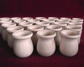 Bulk Pack of 25 of the PREMIUM Bean Pots, Unfinished Maple