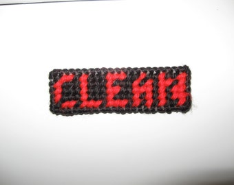 Clean/Dirty Magnetic Sign for Dishwasher in Black, Red and White