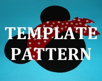 Applique PDF TEMPLATE Pattern Only...PIRATE Mickey...New