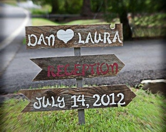Wedding Signs Directional Signage Hand Painted Wedding Signs. YOUR WORDING Party Signs Reception Signs Country Weddings