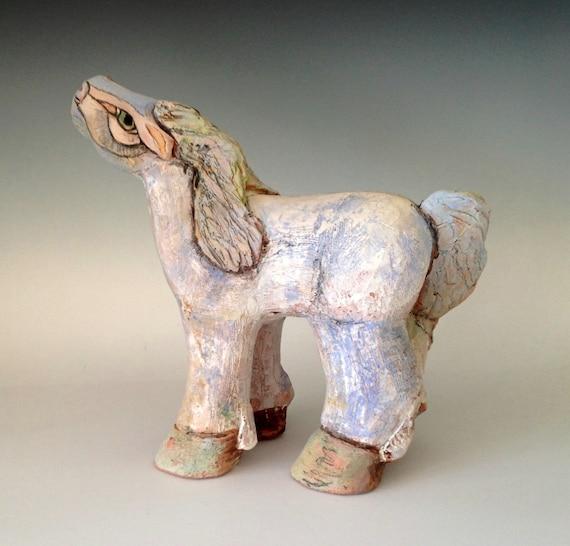Items Similar To Clay Horse Sculpture Ceramic Art Horse