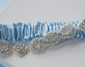 Wedding Garter, Bridal Garter, Something Blue, Bride Garter, Weddings, Garter