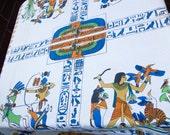 Vintage Egyptian Motif Table Cloth