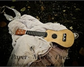 Lost Fairytale Dress, Dusty Pink, and Woodstock Ukulele, Home Decor, By Paper-Mâché Dream Photography,fPOE