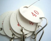 Vintage Key Tags with Clasps Numbers Craft Altered Art Supply
