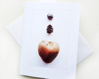 Handmade Greeting Card Heart Like a Potato I Love You